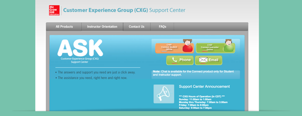 customer experience group screenshot