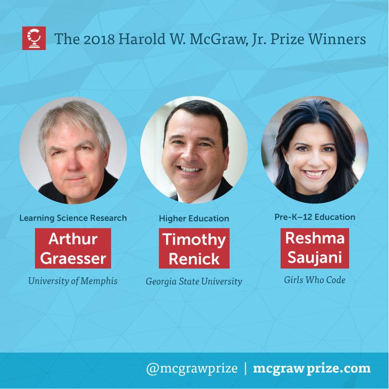 The 2018 Harold W. McGraw, Jr. Prize Winners