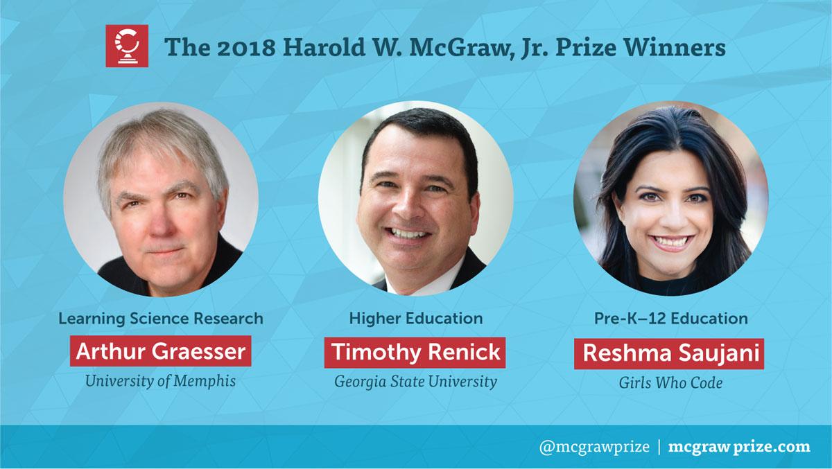 The Harold W. McGraw, Jr. Prize in Education 2018 Winners
