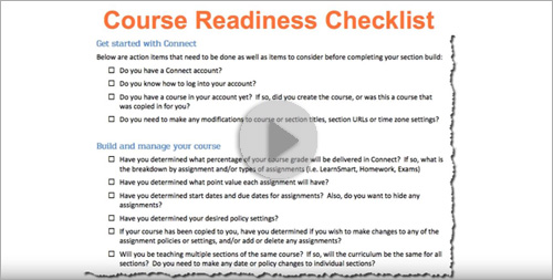 Class Start Readiness: Getting Students Prepared