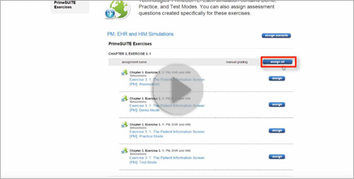 Prime Suite: Accessing and Assigning Simulations