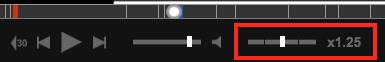 Playback Speed toolbar