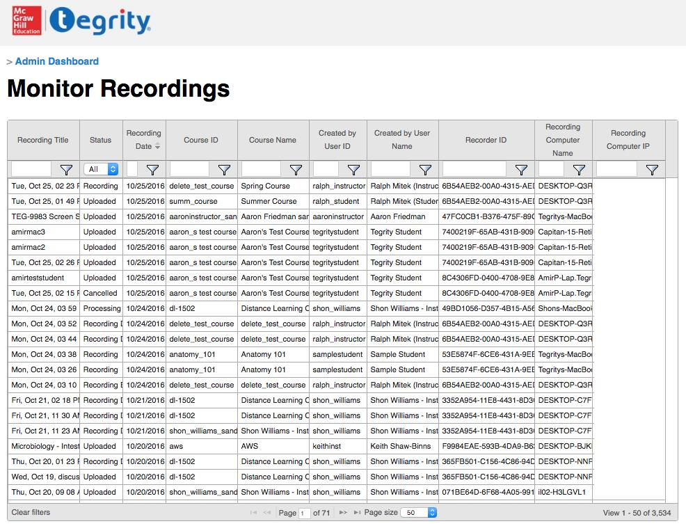 Monitor Recordings screenshot