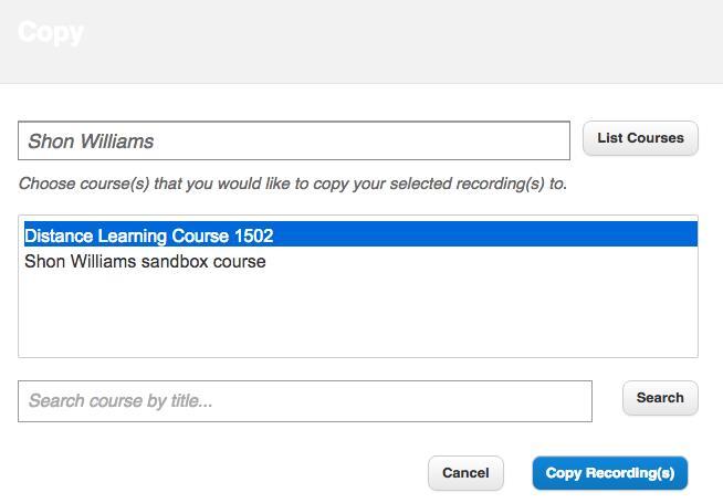 Copy Recording screenshot