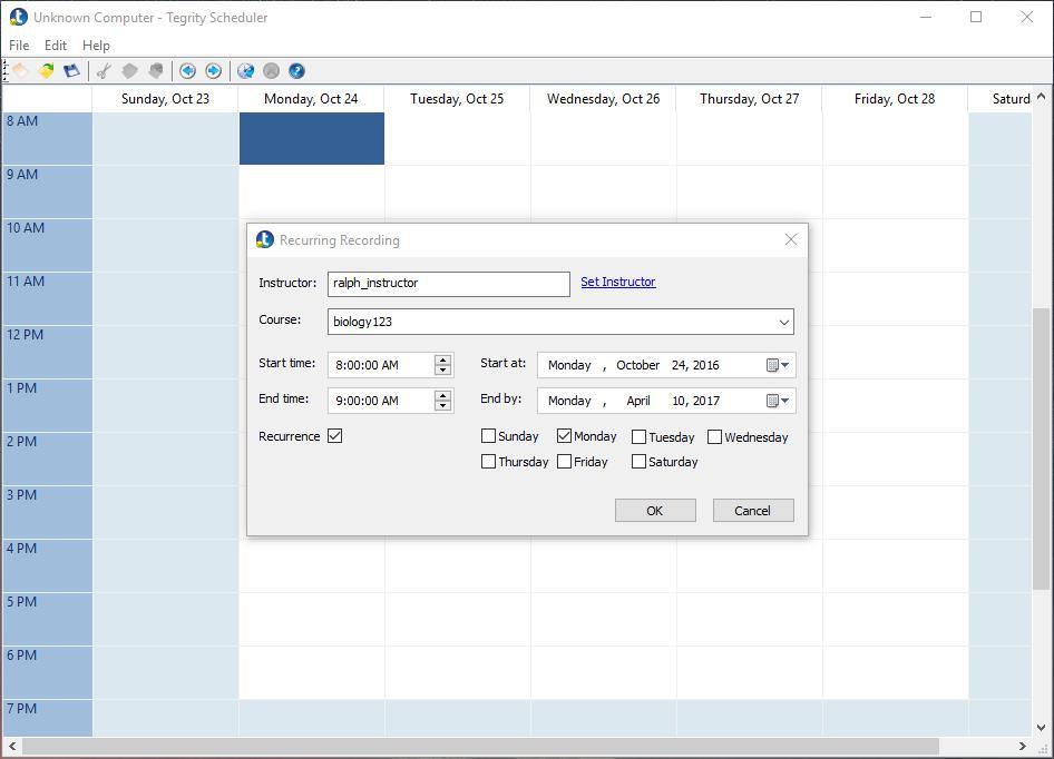 Schedule Recordings screenshot