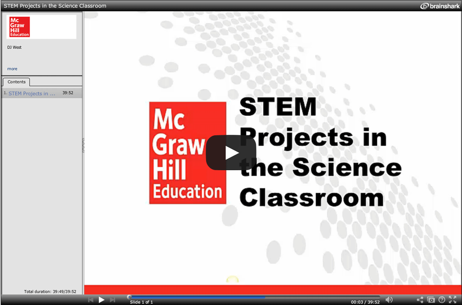 STEM Projects for the Science Classroom