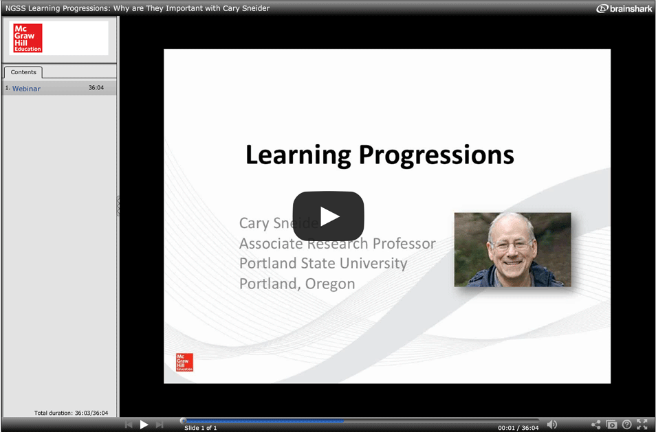 NGSS: Learning Progressions: Why are They Important? with Cary Sneider
