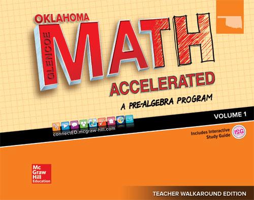 Oklahoma Glencoe Math Accelerated cover