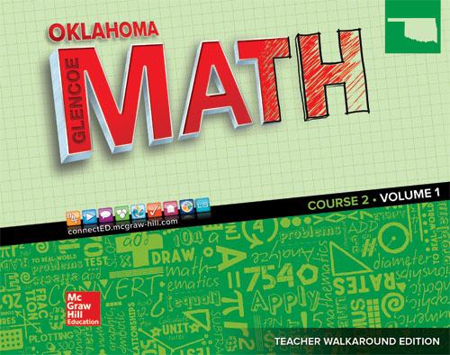 Oklahoma Glencoe Math Course 2 cover