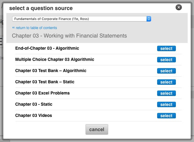 assignable-end-of-chapter-material-menu